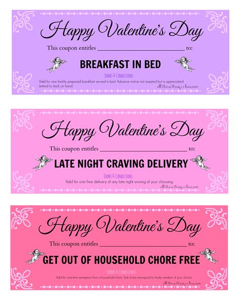 valentine s day coupon template
