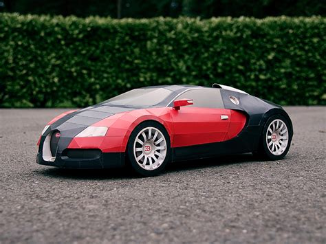 build your own papercraft bugatti veyron