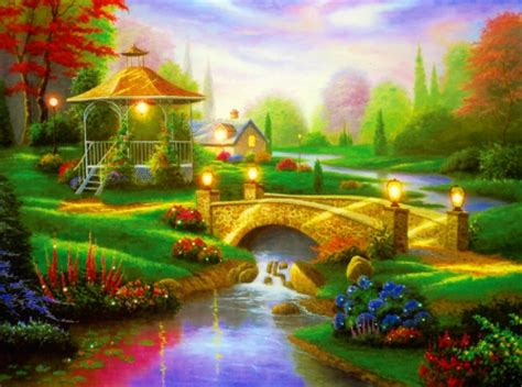 beautiful countryside  abstract background