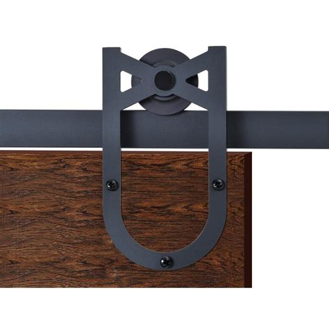 Calhome 72 In Matte Black Heirloom Horseshoe Barn Style Black Barn Door Hardware