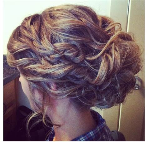 prom hairstyles for medium length hair with braids braided updo for homecoming prom wedding gorgeous