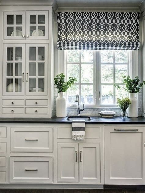 kitchen shades and curtains roman shades in kitchens jacoby company