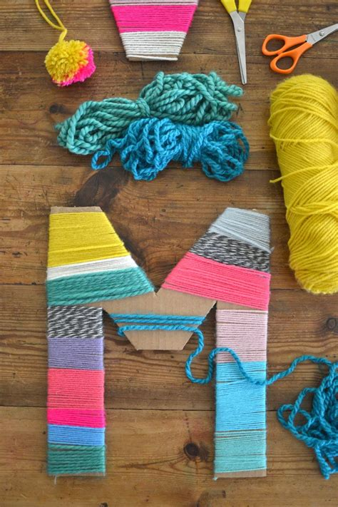 yarn craft projects yarn wrapped cardboard letters cardboard letters yarns