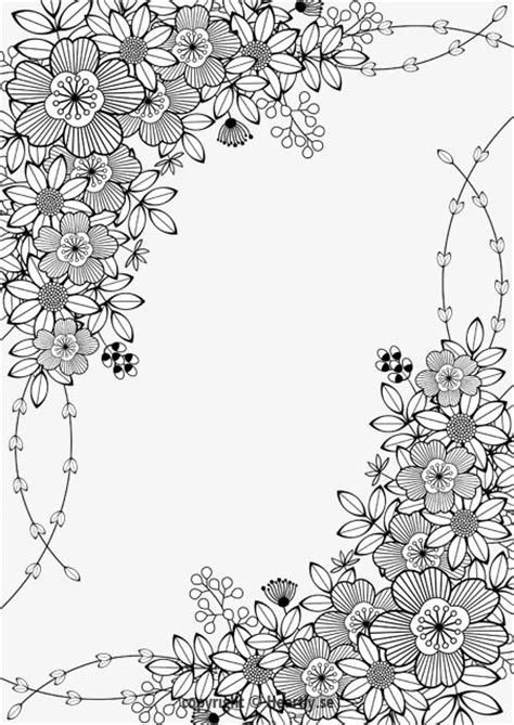 floral designs coloring pages floral border kleurpboek coloring page book m 229 larbok