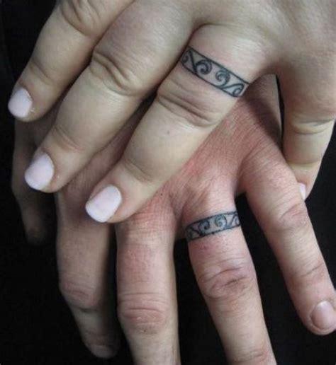 matching ring finger tattoos lovely rings on fingers