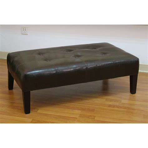 4d concepts large faux leather coffee table 136325