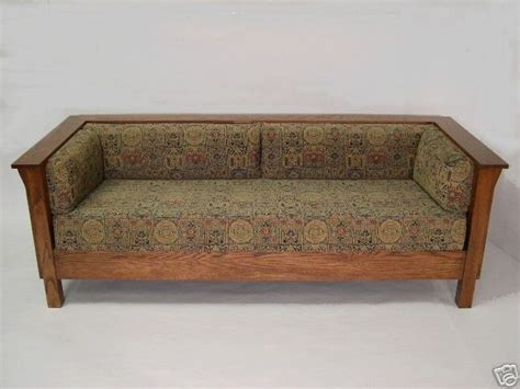 Stickley Sofa by Mission Arts Crafts Stickley Prairie Style Settle Sofa