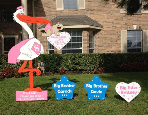 Baby Shower Yard Decorations by Stork Yard Signs Flamingos 2 Go