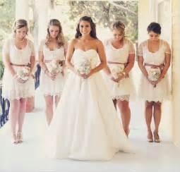 wedding trends we love lace bridesmaid dresses wedding
