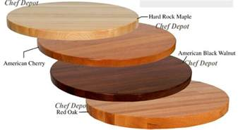 round butcher block table tops