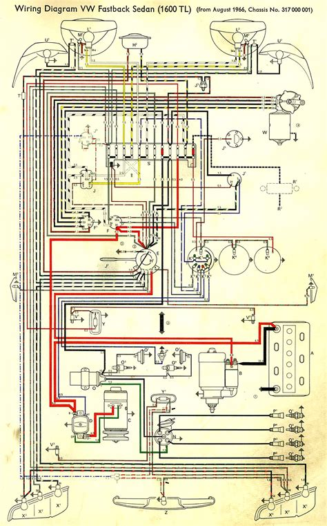 1971 vw wiring diagram wiring diagrams wiring