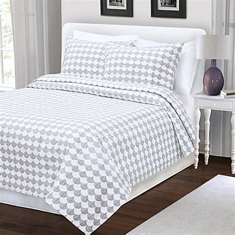 grey king coverlet buy finley king coverlet in grey white from bed bath beyond