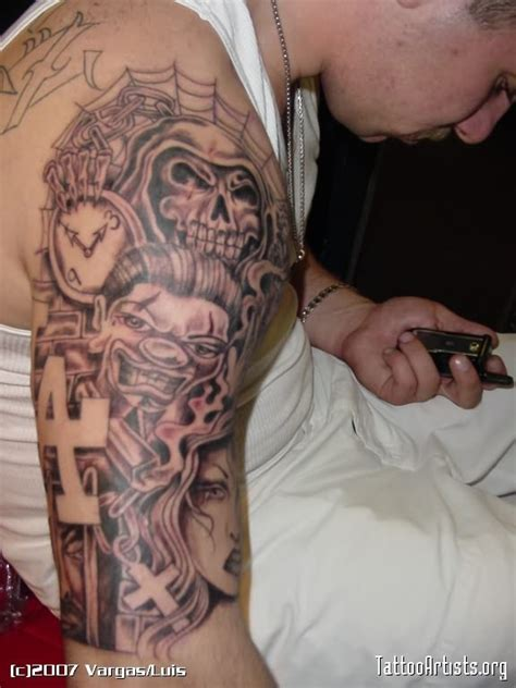 gangster sleeve tattoo designs gangsta images designs