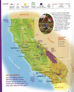 geographic map of california california geography map