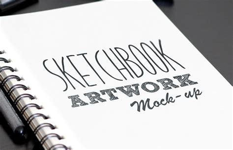 Sketch Book sketchbook artwork mockup medialoot