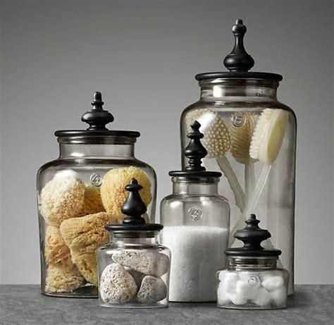 glass storage jars bathroom les bocaux en verre sont un vrai hit pour la cuisine