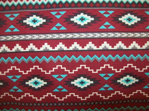 tribal pattern material half yard red tribal print fabric native print fabric