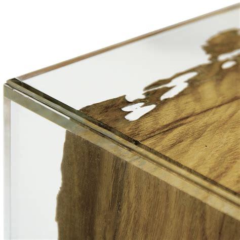 tavolo vetro legno tavolo consolle in legno di briccola di venezia e vetro fenice