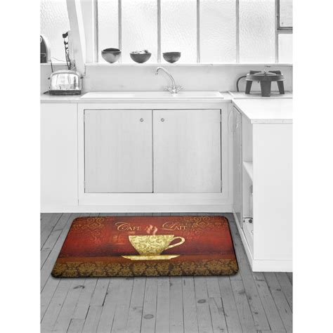 designer kitchen rugs home dynamix designer chef cafe au lait 24 in x 36 in