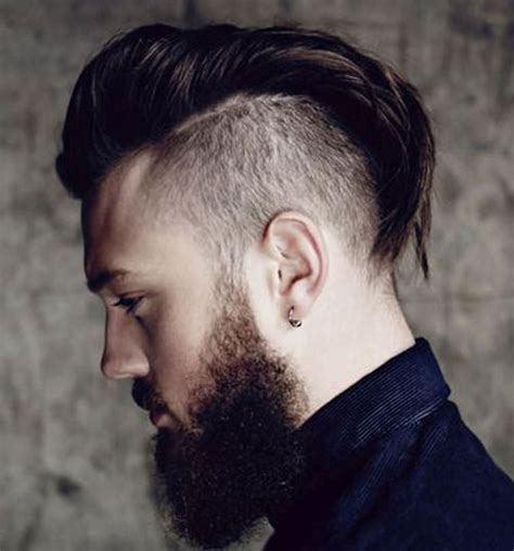 long pushed back hair short sides 28 edgy disconnected undercuts for modern men