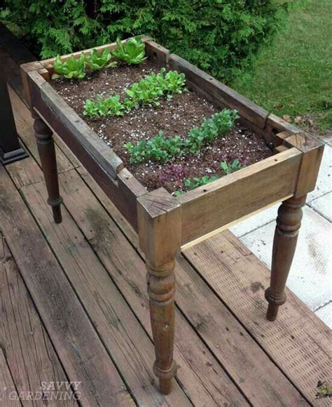 Raised Garden Table by 25 Best Ideas About Elevated Garden Beds On