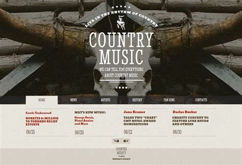Music Band Website Templates That Will Rock You Country Website Template