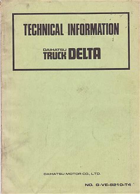 daihatsu delta workshop manual automotive beven youngs automotive motorcycle books