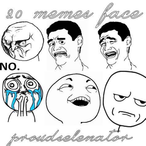 Memes Faces Download - pack de 20 memes face by proudselenator on deviantart