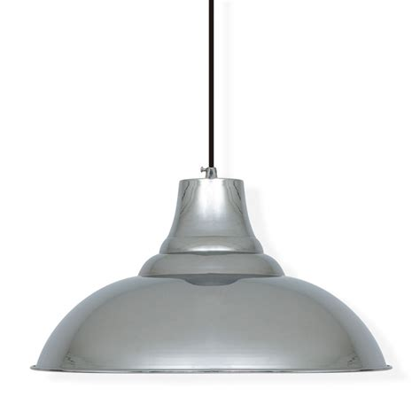 Chrome Pendant Light Industrial Pendant Ceiling Light In Chrome Ceiling Ls Cult Uk