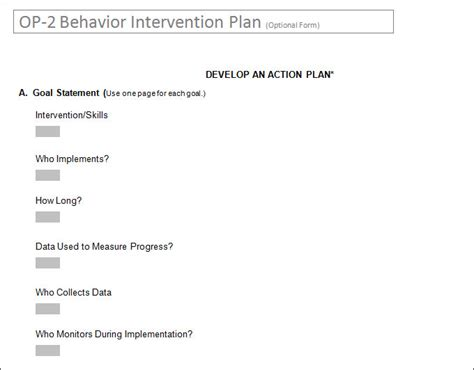behavior intervention plan template 4 free word pdf