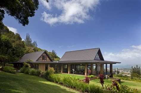 Luxury Cottage Plans wing house tropical exterior hawaii by mcclellan