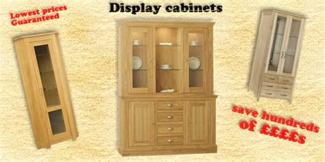 Dining Display Cabinets   Oak Display Units   Solid Oak Display Units   Furniture For Modern Living