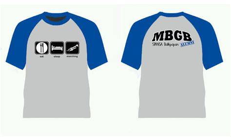 Kaos Eat Sleap kaos eat sleep marching iambgb ikatan alumni marching