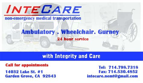 Garden Grove Non Emergency Photos For Intecare Non Emergency Transportation
