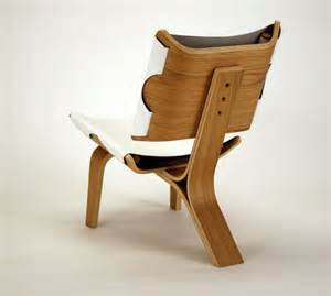 Armchair Leather Design Ideas Aesthetically Brilliant Chair Made Of Bent Plywood And Leather Digsdigs