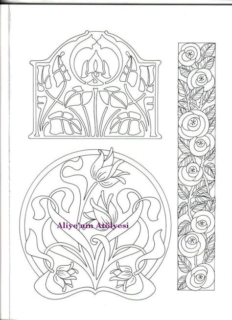 yahoo design pattern library stencils 63 best art nouveau images on pinterest embroidery