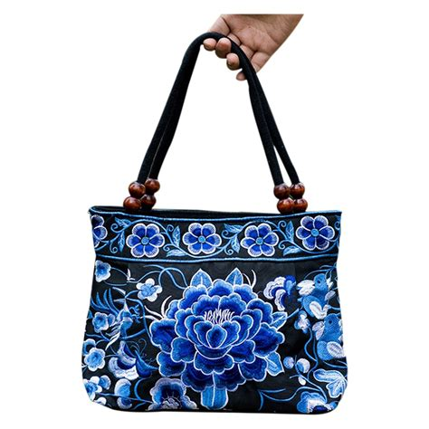 Handmade Bags Uk - handbag embroidery ethnic handmade tote shoulder