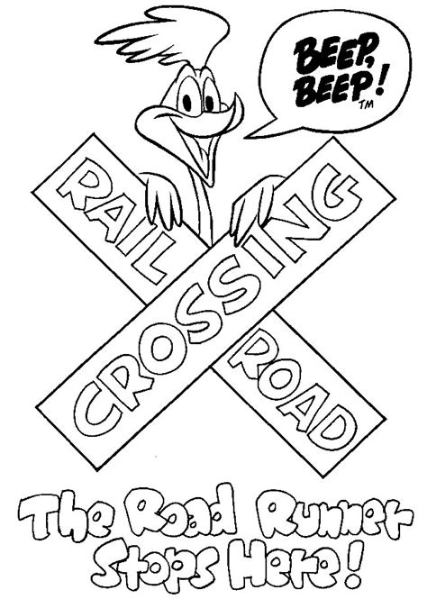 road runner coloring pages coloringpages1001 com
