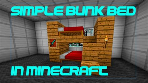 how to make bunk beds how to make a simple bunk bed in minecraft