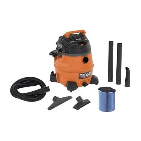 Home Depot Vacuums by Ridgid 14 Gal 6 0 Peak Hp Vac Wd1450 The Home Depot