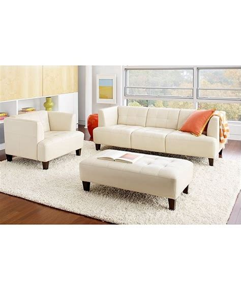 Macy S Living Room Furniture Alessia Leather Sofa Living Room Furniture Sets Pieces Furniture Macy S For Home Sofa