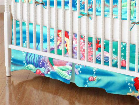 little mermaid crib bedding mini crib skirt little mermaid mini crib skirts sheets