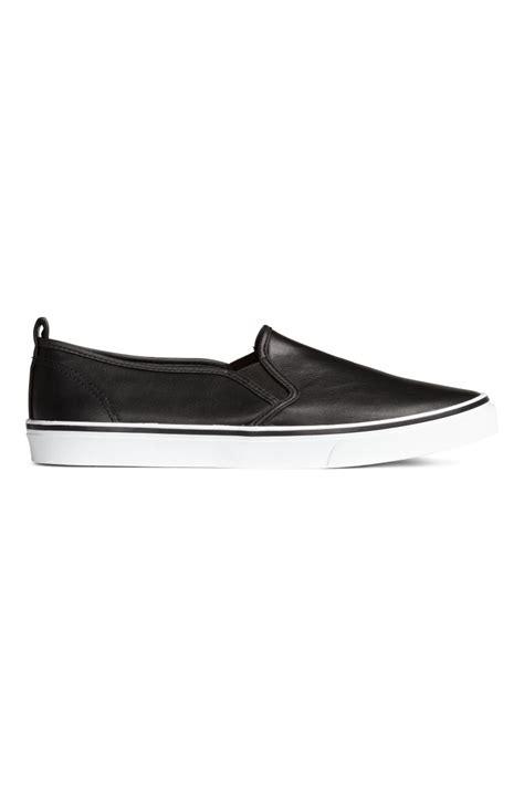 Slipon M Ungu slip on shoes black h m us