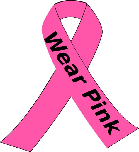 breast cancer awareness clip wear pink clip at clker vector clip