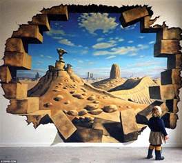 Murals On The Wall 3d Hole Murals 3d Cake Image