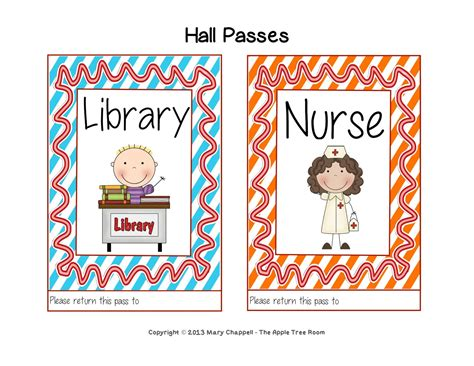 boys bathroom pass the apple tree room hall pass set