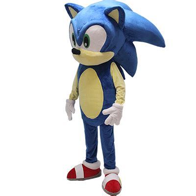 Sonic Blue Spandex blue sonic the hedgehog mascot costume cosplaymades