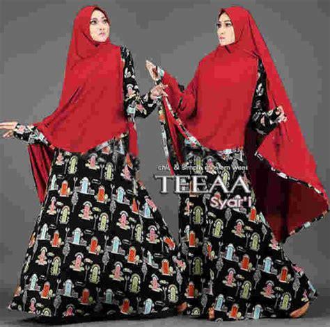 Gamis Syari Wollycrepe Motif baju gamis syar i reaja teeaa motif terbaru busana muslim