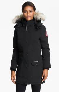 canada goose 2014 new jacket navy womens p 2 canada goose trillium parka with genuine coyote fur trim in black lyst