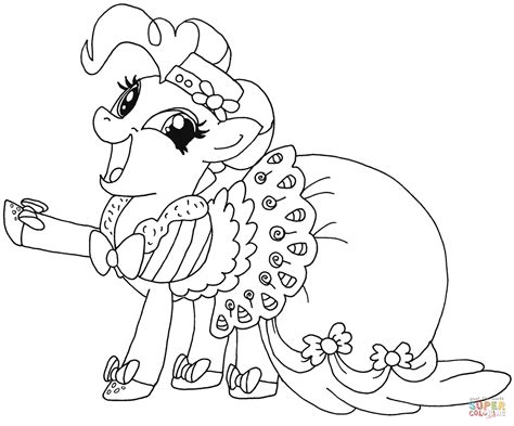 Pinkie Pie Coloring Page by My Pony Pinkie Pie Coloring Page Free Printable